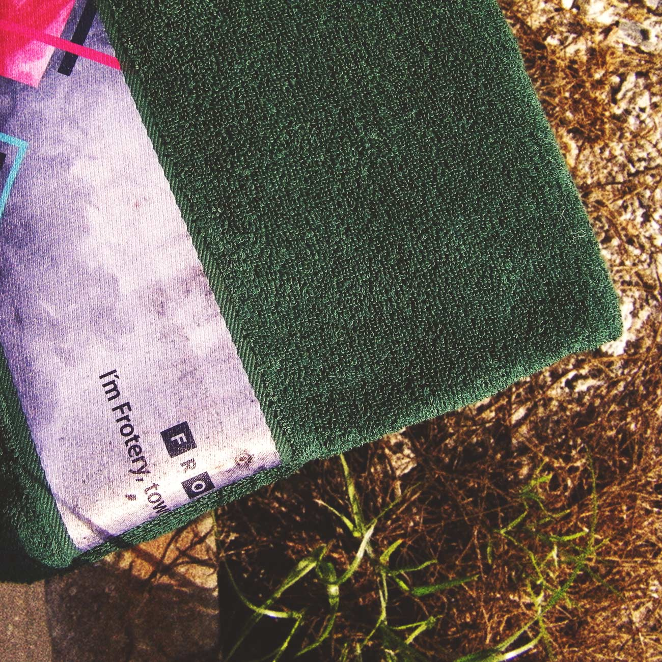 print ručník přeložený