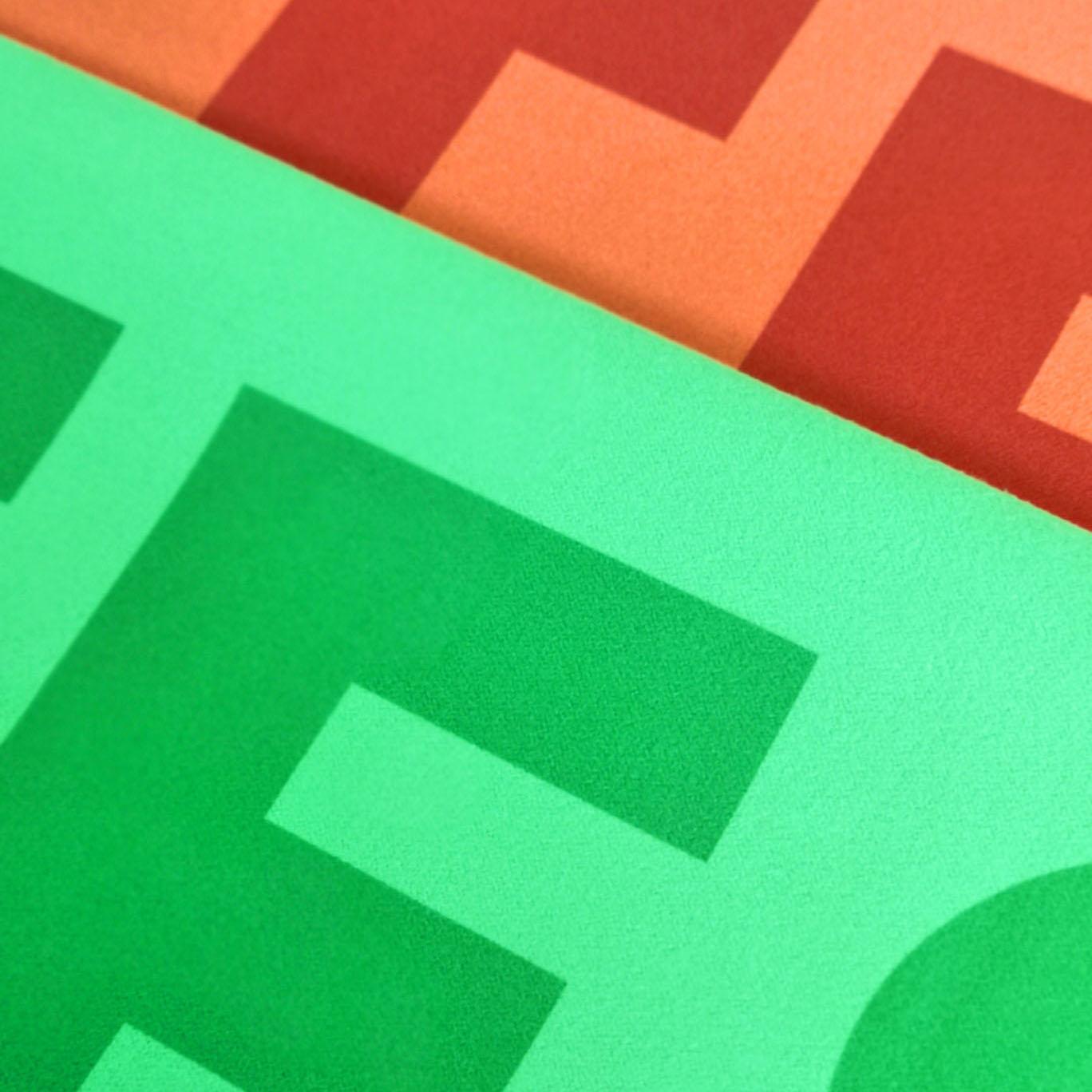 imprimons aussi sur les serviettes colorées.